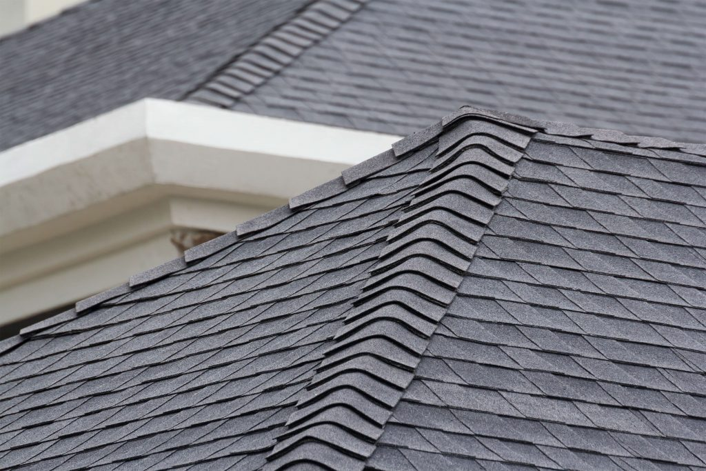 Detail of a shingled roof